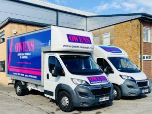 Photo - A couple of vehicles from the Owen's Removals fleet.