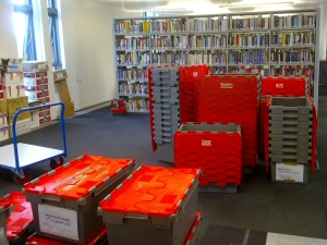 Photo - Storage crates supplied for a library move for Blackpool and the Fylde College